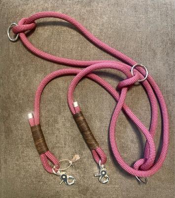 Hundeleine aus PPM-Premium Seil 10mm - Brombeere - 3m