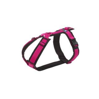 AnnyX Brustgeschirr schwarz / pink