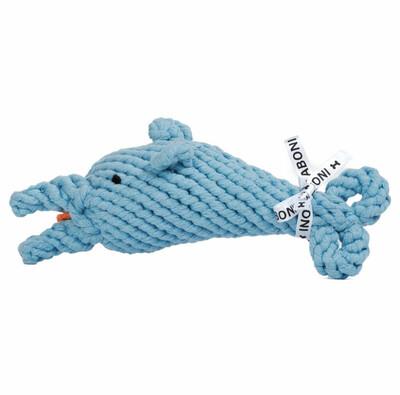 LABONI Toys - Hundespielzeug Didi Delfin - 25cm hellblau