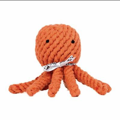 Laboni Toys Hundspielzeug Thaddäus Tintenfisch - 15cm orange