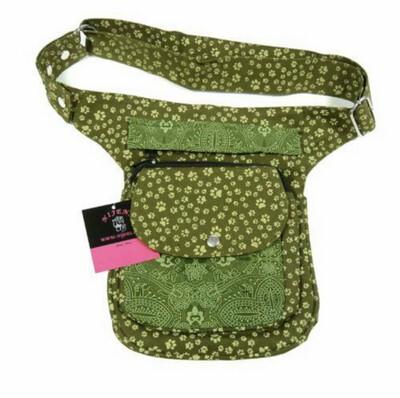 Gassi-Tasche Grün Leckerlitasche für Hundefreunde