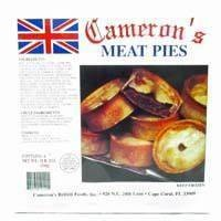 Cameron's Meat Pies 4pk