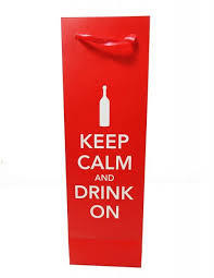 Keep Calm and Drink On Bottle Bag