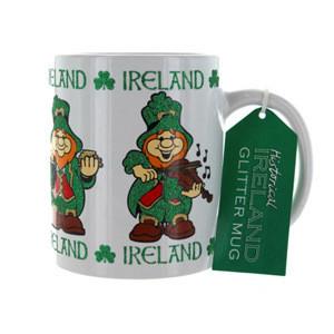 Ireland Leprechaun Glitter Mug