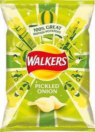 Walkers Pickled Onion Crisps 32.5g