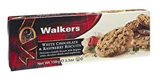 Walkers White Chocolate & Raspberry Biscuits 150g