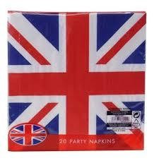 Union Jack Party Napkins 20pk