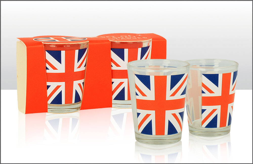 Union Jack Shot Glass Set Of 2