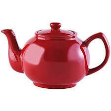 P&K Teapot 6 Cup Red