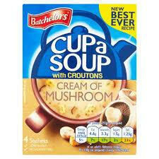 Batchelors Cup A Soup Mushroom 4pk