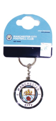 Official Merchandise Man City FC Key Ring