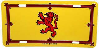 Scotland Scottish Lion License Plate