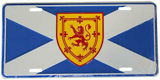 Scotland St Andrews License Plate