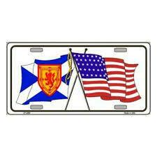 Scotland/USA License Plate