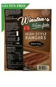Winstons Irish Bangers Gluten Free