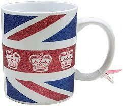 Union Jack Glitter Mug