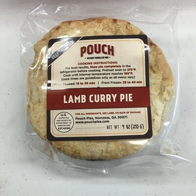 Pouch Pies Lamb Curry 9oz