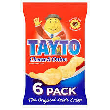 Tayto Cheese & Onion 6 Pack