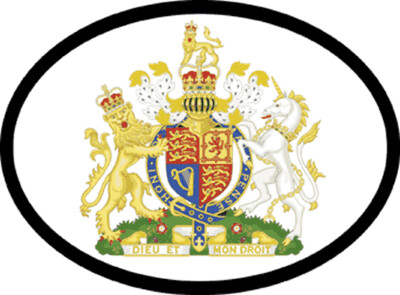 Decal 1983 UK Coat Of Arms