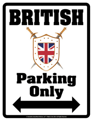 5386 British Parking Sign