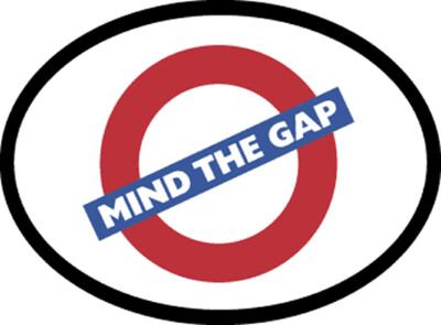 1507 Mind The Gap Decal