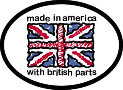 3285 British Parts Oval Decal