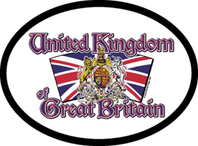 1285 Great Britain Motto Oval Decal