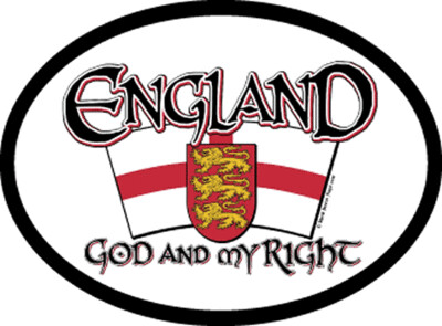1225 England St George Motto Oval Decal