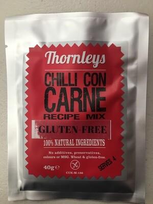 Thornleys Chilli Con Carne Recipe Mix *Gluten Free* 40g
