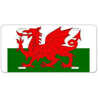 Wales Dragon License Plate