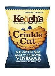 Keogh's Crinkle Cut Atlantic Sea Salt & Balsamic Vinegar 50g