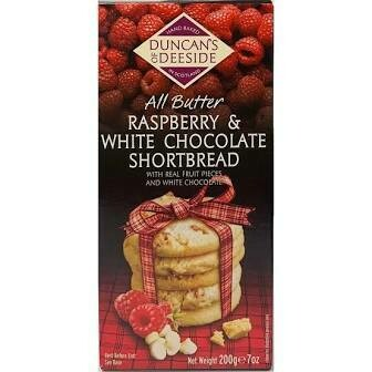Duncans Of Deeside Raspberry & White Chocolate Shortbread 200g