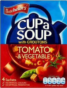 Batchelors Cup A Soup Tomato & Vegetable 4pk