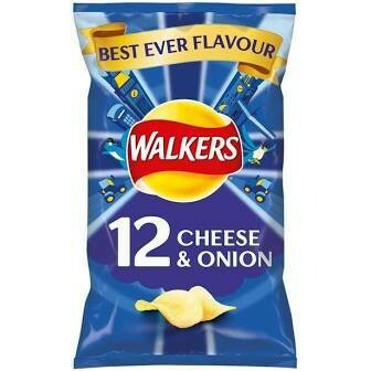 Walkers Cheese & Onion 12 Pack