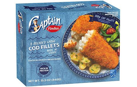 Captain Findus Breaded Cod Fillets 4pk 440g