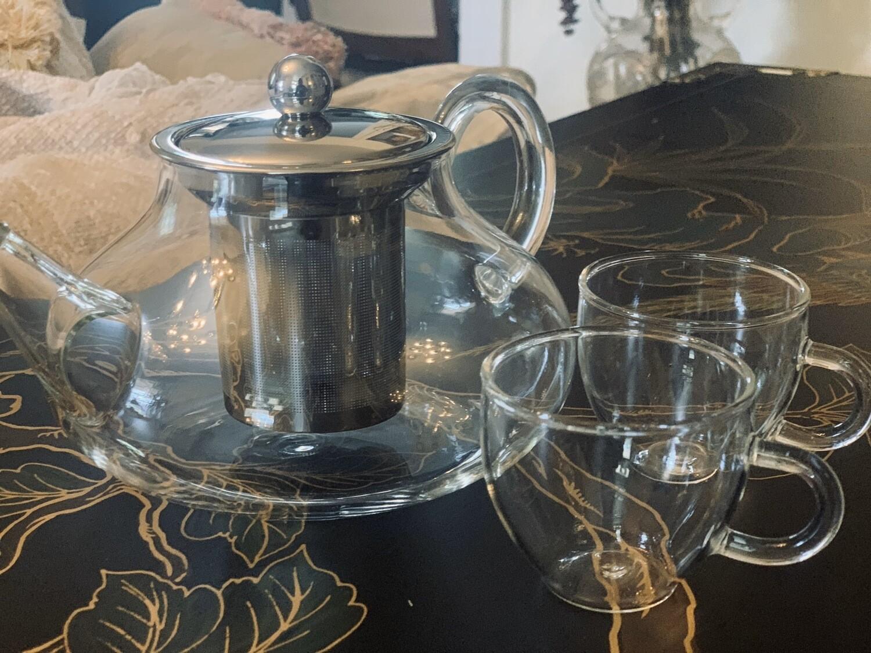 Dilly's Signature Glass Tea Pot