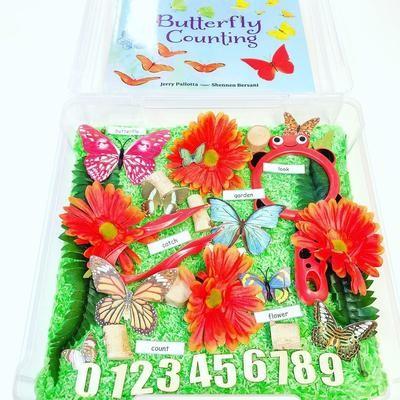 Exploring Butterflies Sensory Bin