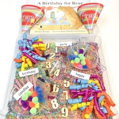 Happy Birthday Sensory Bin