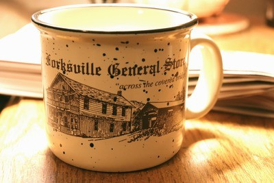 Forksville General Store - Tan Soup Mug