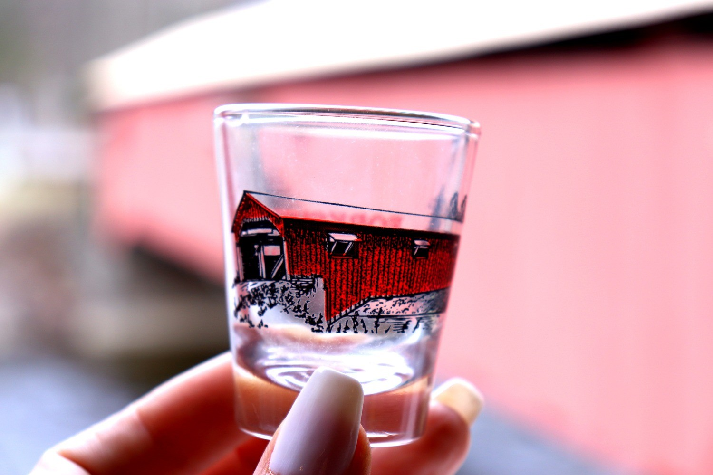 Covered Bridge shot glass
