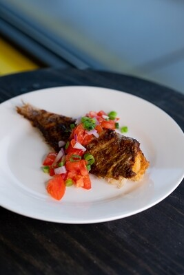 Cameroonian Braised Fish with Plantains or rice