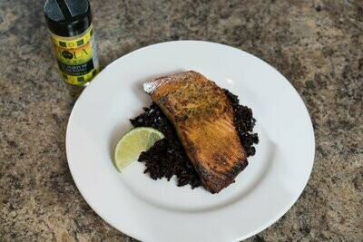 Black rice with Salmon