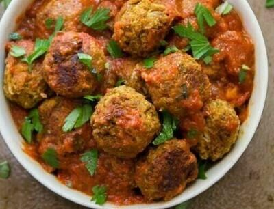 Meatless Mushroom meatball