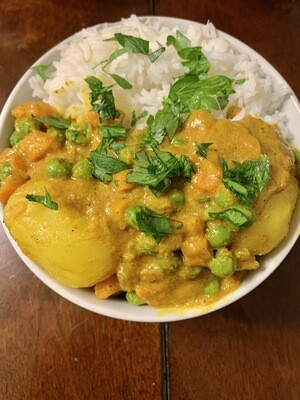 Potato rice curry