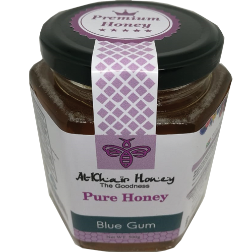 Pure Honey, Blue Gum, 500g Glass Jar, Home Essential