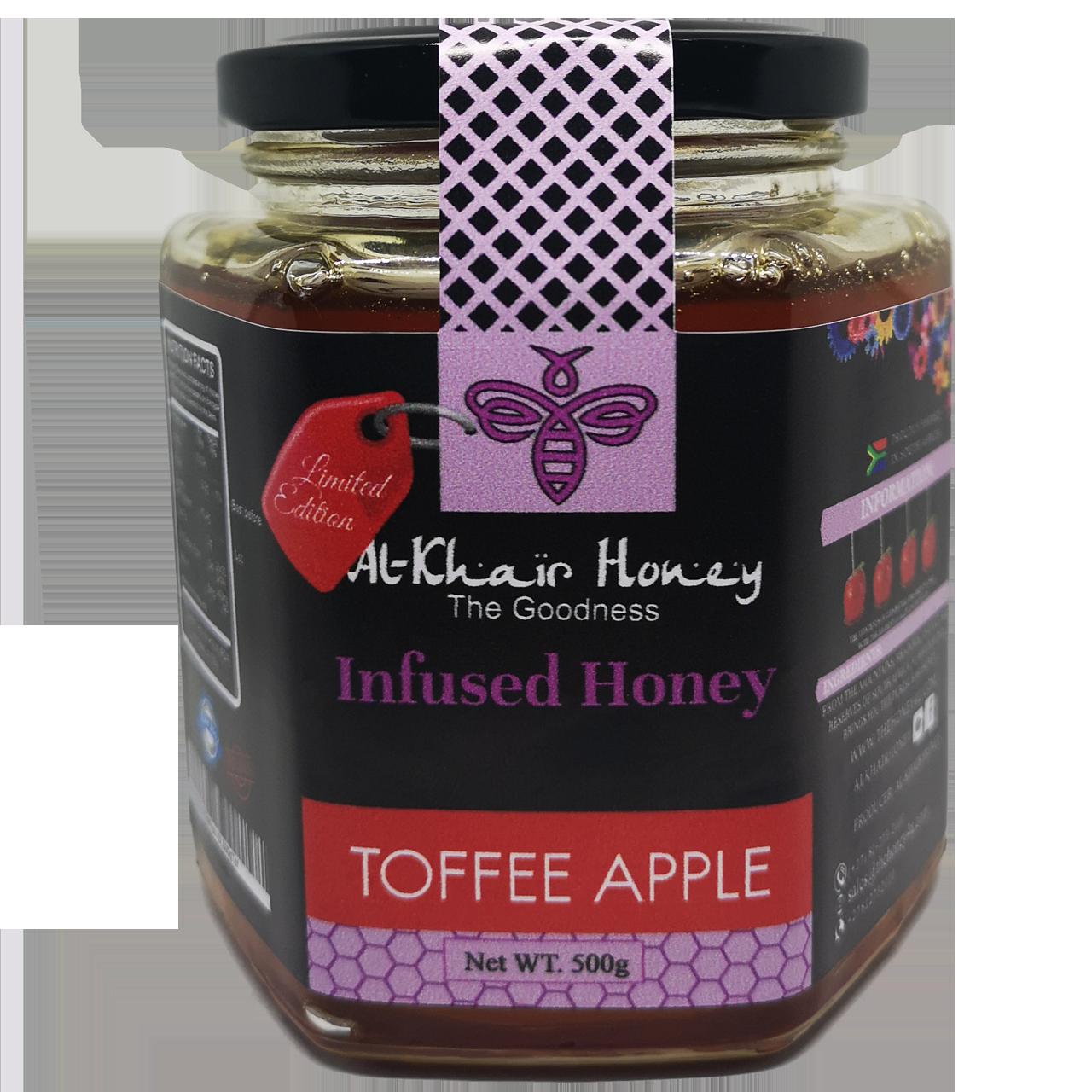 Infused Honey, Toffee Apple, 500g Glass Jar