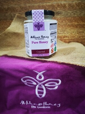 Pure Honey, Creamed, 370g Glass Jar