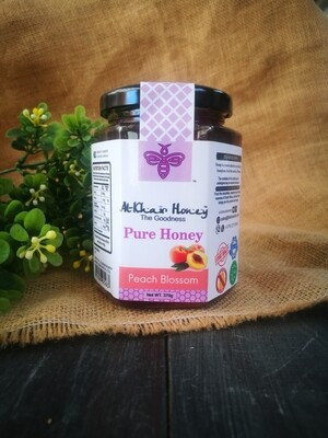 Pure Honey, Peach Blossom, 370g Glass Jar