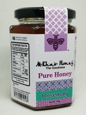 Pure Honey, Rosemary, 370g Glass Jar