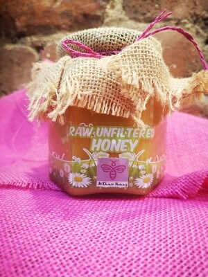 Unfiltered Raw Honey, 370g Glass Jar